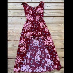 Off the shoulders Floral romper dress